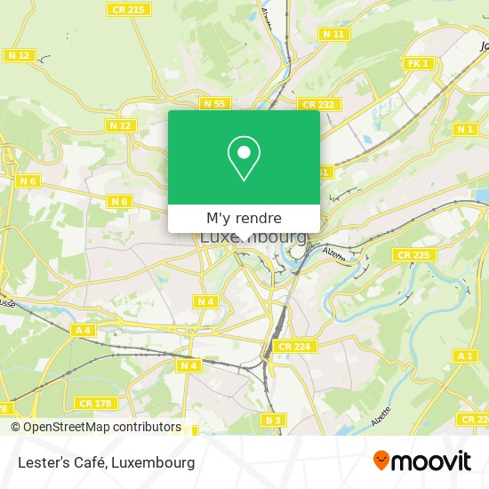 Lester's Café, 27, Rue Philippe II 2340 Luxembourg plan