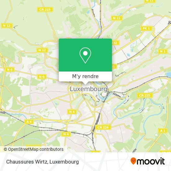 Chaussures Wirtz, 9, Avenue de la Porte-Neuve 2227 Luxembourg plan
