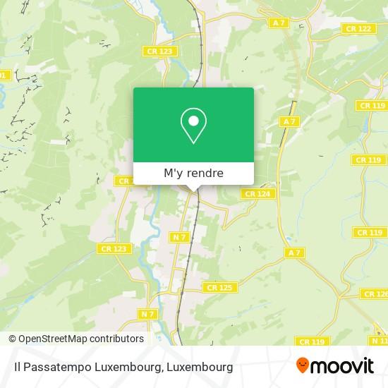 Il Passatempo Luxembourg, 2, Rue de la Forêt Verte 7340 Steinsel plan