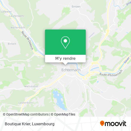 Boutique Krier, 50, Rue de la Gare 6440 Echternach plan