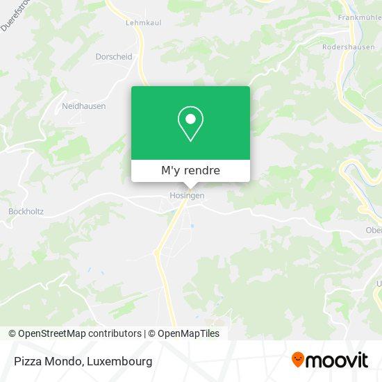 Pizza Mondo, 16, Haaptstrooss 9806 Parc Hosingen plan