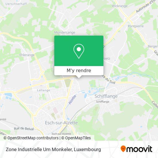 Zone Industrielle Um Monkeler plan