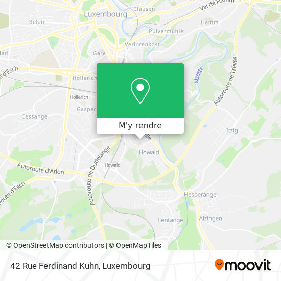 42 Rue Ferdinand Kuhn plan