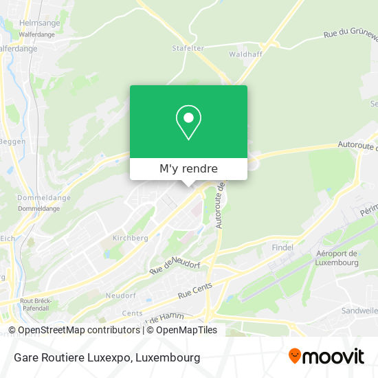 Gare Routiere Luxexpo plan
