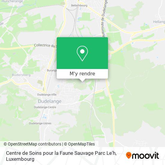 Centre de Soins pour la Faune Sauvage Parc Le'h plan