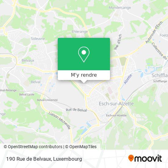 190 Rue de Belvaux plan