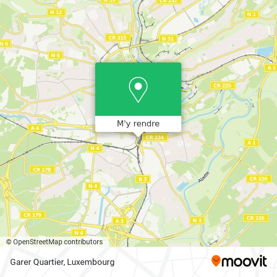 Garer Quartier plan