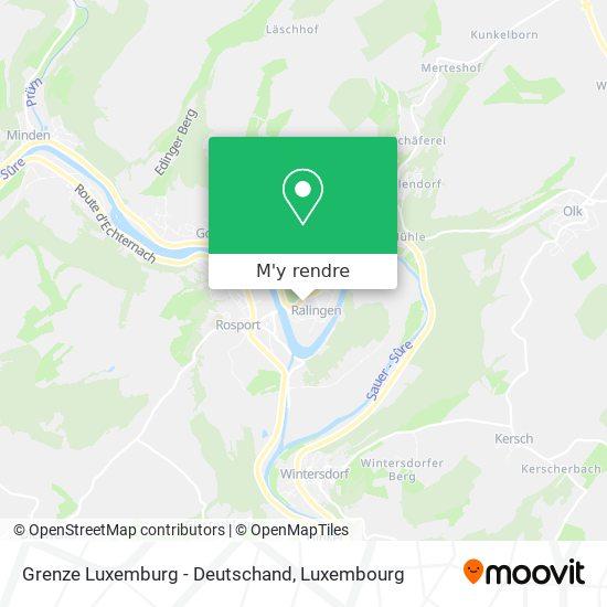 Grenze Luxemburg - Deutschand plan