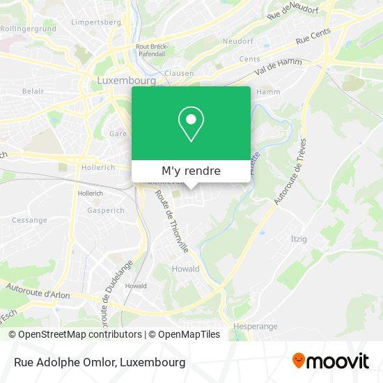 Rue Adolphe Omlor plan