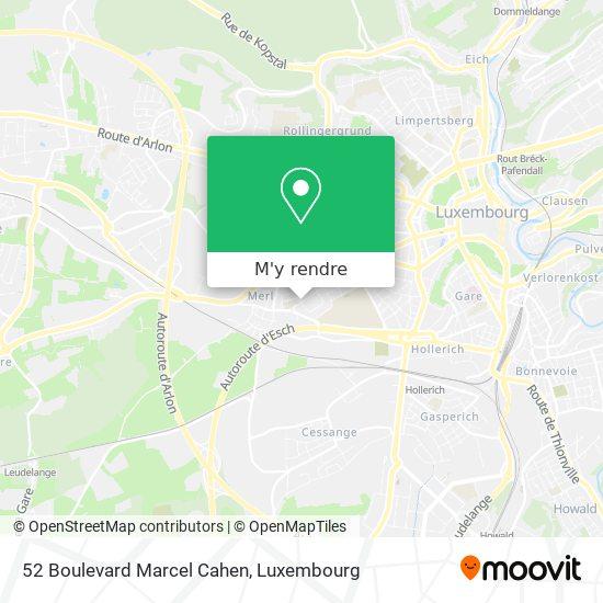 52 Boulevard Marcel Cahen plan