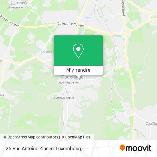 25 Rue Antoine Zinnen plan