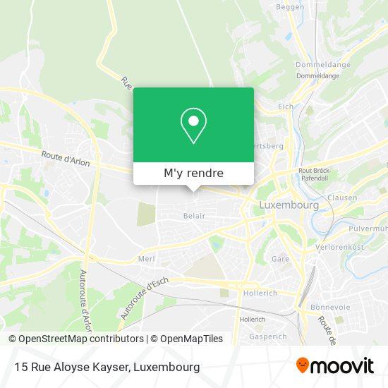 15 Rue Aloyse Kayser plan
