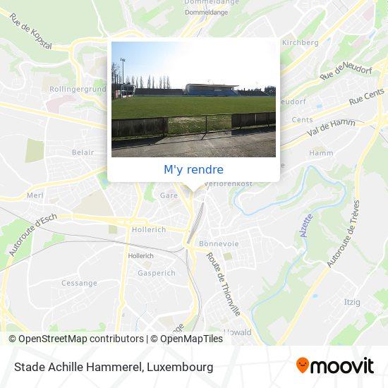 Stade Achille Hammerel plan