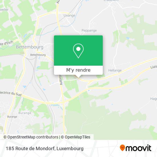 185 Route de Mondorf plan