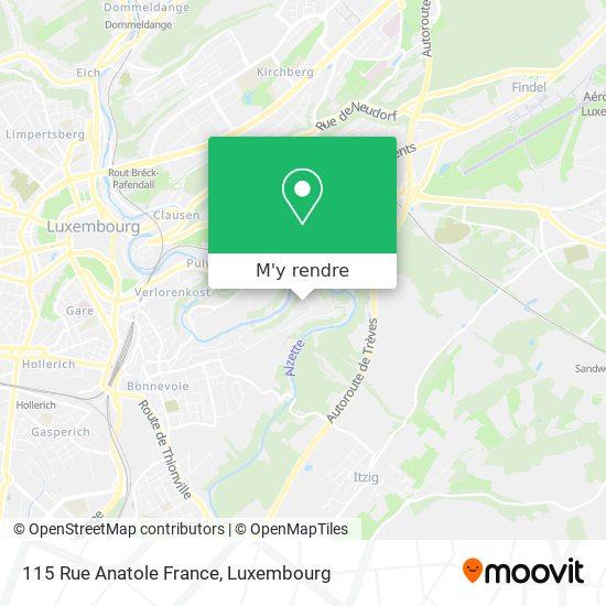 115 Rue Anatole France plan