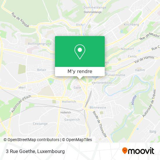 3 Rue Goethe plan