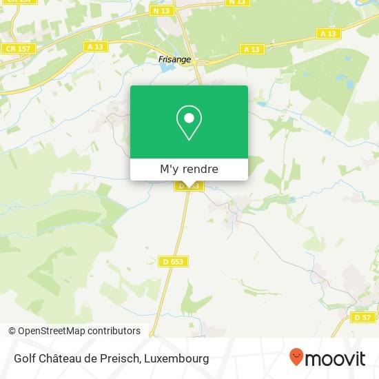 Golf Château de Preisch plan
