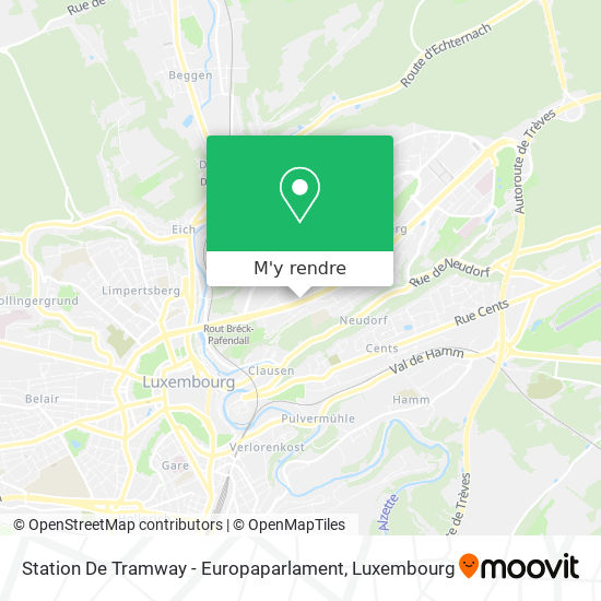 Station De Tramway - Europaparlament plan