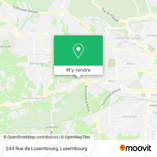 244 Rue de Luxembourg plan