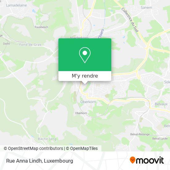 Rue Anna Lindh plan