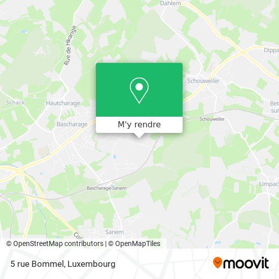 5 rue Bommel plan