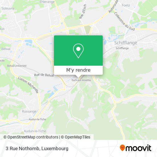 3 Rue Nothomb plan
