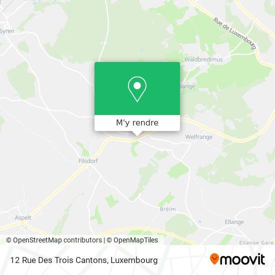 12 Rue Des Trois Cantons plan