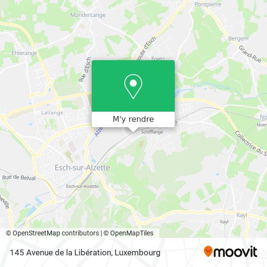 145 Avenue de la Libération plan