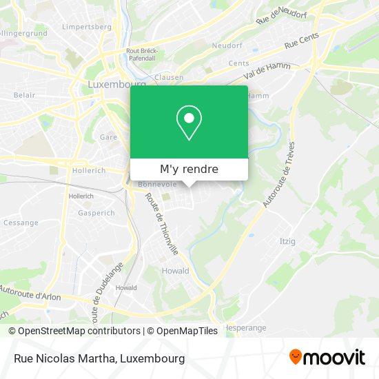 Rue Nicolas Martha plan
