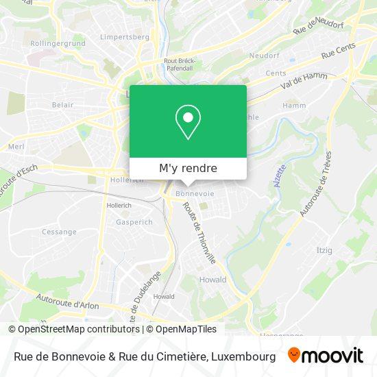 Rue de Bonnevoie & Rue du Cimetière plan