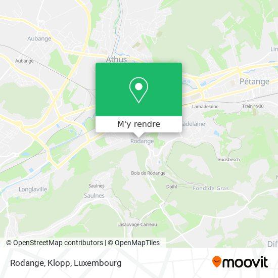 Rodange, Klopp plan