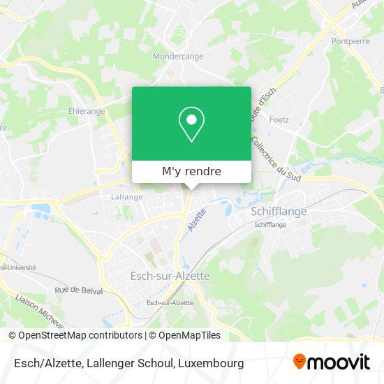 Esch/Alzette, Lallenger Schoul plan