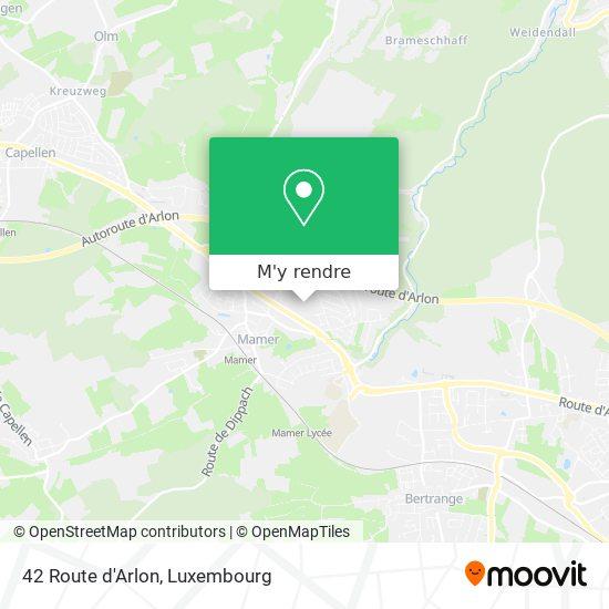 42 Route d'Arlon plan