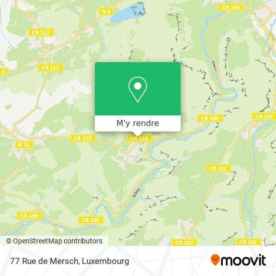 77 Rue de Mersch plan