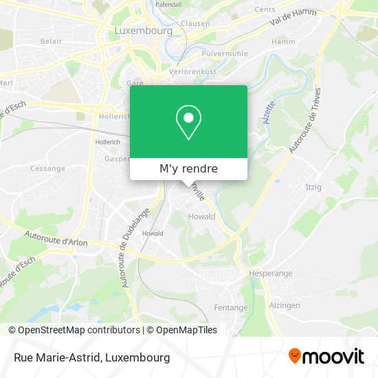 Rue Marie-Astrid plan