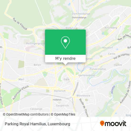 Parking Royal Hamilius plan