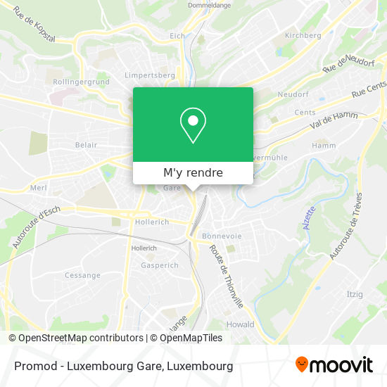 Promod - Luxembourg Gare plan