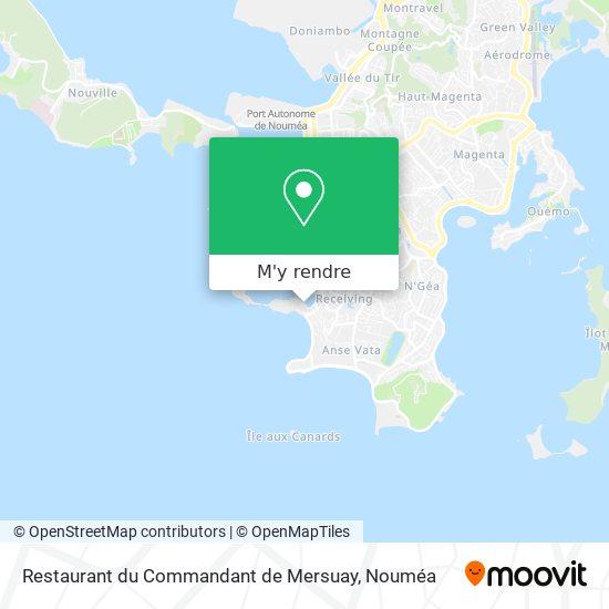 Restaurant du Commandant de Mersuay plan