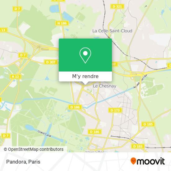 Comment aller à Pandora à Le Chesnay en Bus, Train, RER ou Métro ...
