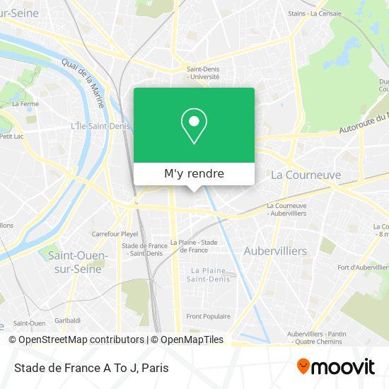 Stade de France A To J plan