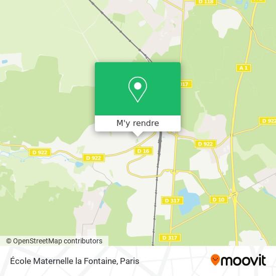 École Maternelle la Fontaine plan