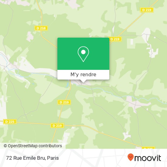 72 Rue Emile Bru plan