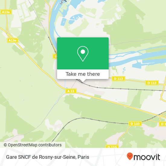 Gare SNCF de Rosny-sur-Seine plan