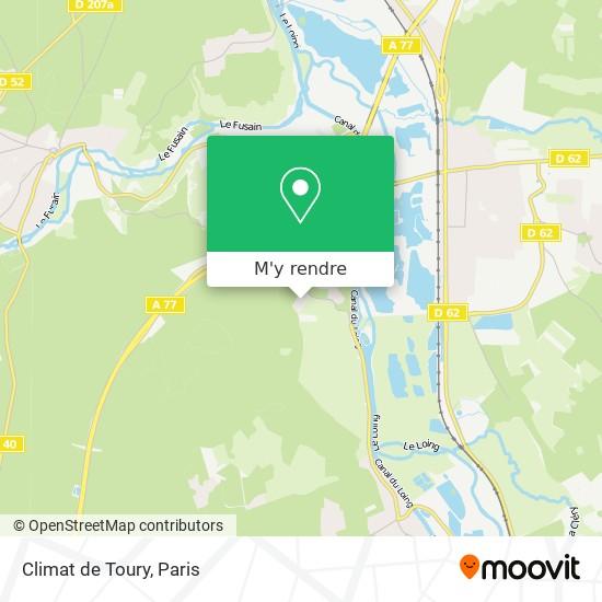 Climat de Toury plan