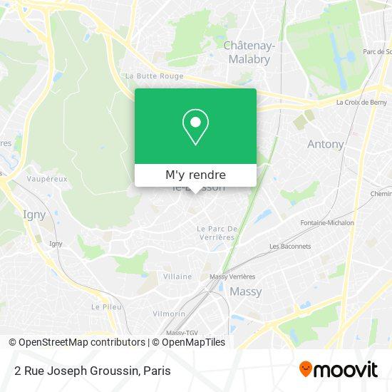 2 Rue Joseph Groussin plan
