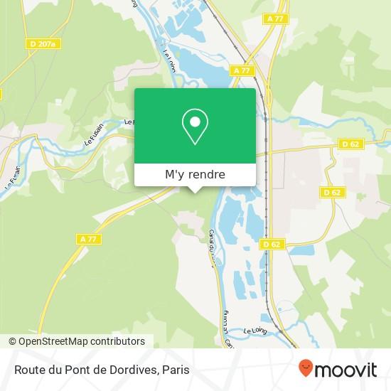 Route du Pont de Dordives plan