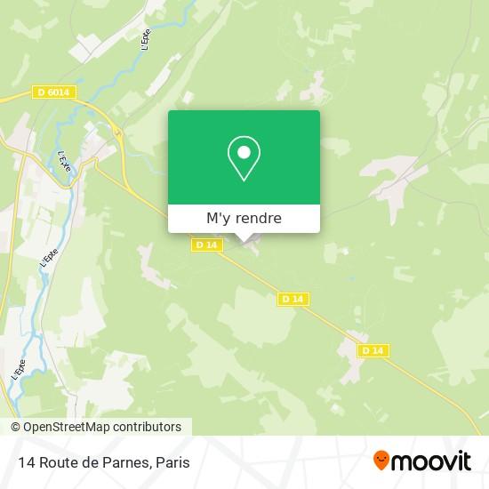 14 Route de Parnes plan