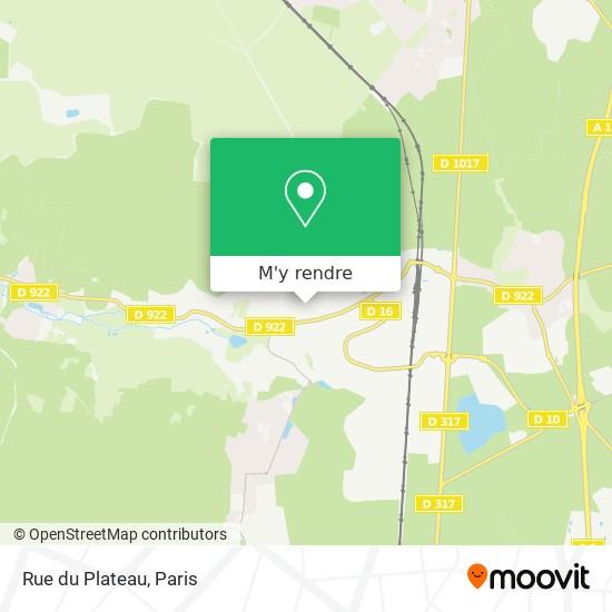 Rue du Plateau plan