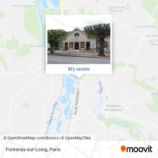 Fontenay-sur-Loing plan