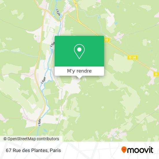 67 Rue des Plantes plan